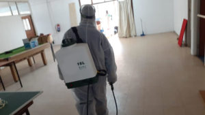 cleaning sanitizing school room tiles disinfecting