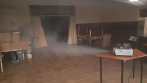 fogging school room tiles disinfecting